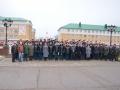 Групповая фотография ветеранов с командованием войск РХБЗ